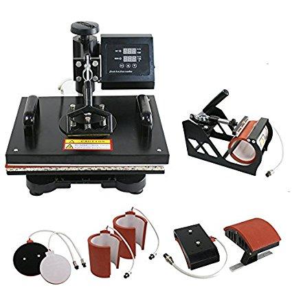 ZENY Heat Press Pro 6in1 Combo Heat Press Machine Digital Multifunction Transfer Sublimation