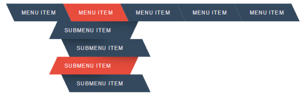 5 Attractive CSS Drop Down Menu for Blogger