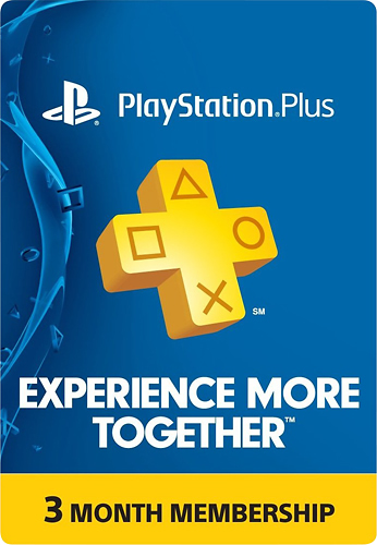 Sony Interactive Entertainment - PS Plus: 3 Month Membership - Digital - Larger Front