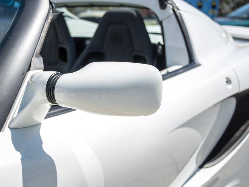 white polished car