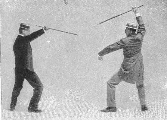 Rear guard invites hand attack