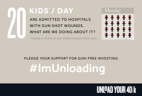 You've seen the Unload Your 401k video but now there's more you can do!Visit www.unloadyour401k.com and pledge to support gun-free investing. Then use ‪#‎ImUnloading‬ to tell us why you're divesting from the gun industry.