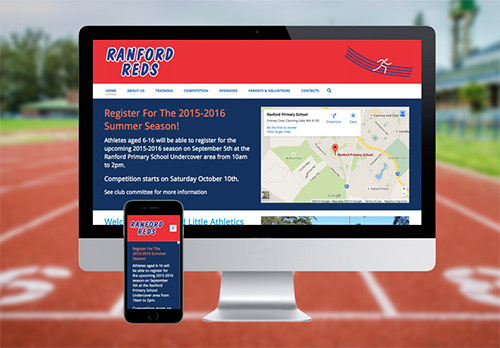 Website Design for Ranford Little Athletics Club