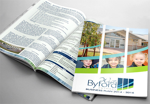 Layout and Printing of West Byford Primary School's Business Plan