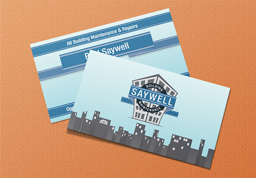 Logo and Business Stationery for Saywell Building Maintenance