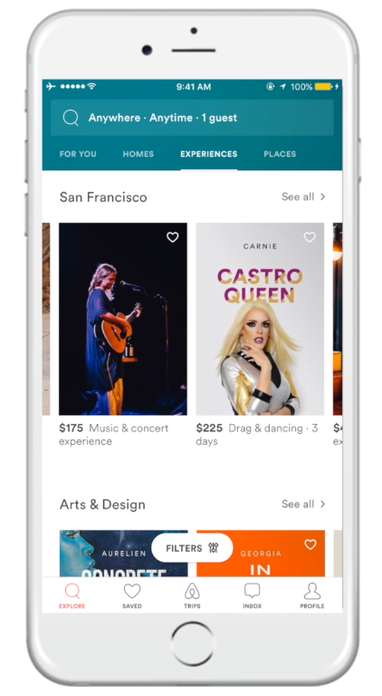 mobile personalization airbnb