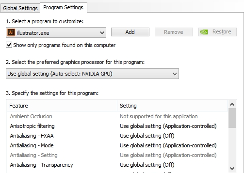 program setting
