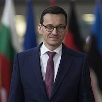 Polish Prime Minister Mateusz Morawiecki at the European Union leaders summit in Brussels, Dec. 14, 2017. (Photo by Dan Kitwood/Getty Images)