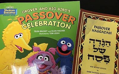 Some Passover books used by staff of the Chronicle. (Photo by Lauren Rosenblatt)