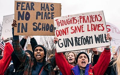 A demonstration by Teens for Gun Reform, an organization created by students in the Washington D.C. area, in the wake of the Feb. 14 school shooting at Marjory Stoneman Douglas High School in Parkland, Fla. (Photo by Lorie Shaull / Wikimedia Commons)