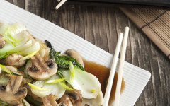 Savory Quinoa, Mushroom, and Bok Choy Stir Fry Recipe