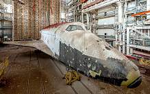 Russia's abandoned space shuttles at the Baikonur Cosmodrome