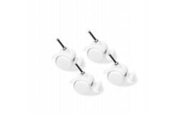 Set of 4 swivel caster wheels | White