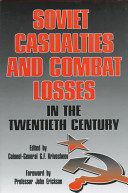 Soviet Casualties and Combat Losses in the Twentieth Century