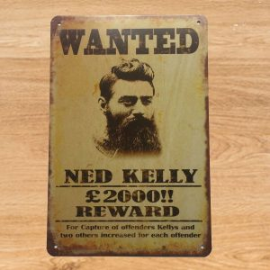 ned kelly wanted poster Australia