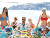 Adnan Oktar and his 'kittens.'
