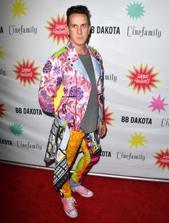 """Jeremy Scott arrives at the Premiere Of IFC Midnight's """"Antibirth"""" at Cinefamily on August 21, 2016 in Los Angeles, California."""