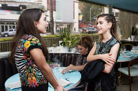 Rowan Blanchard and Kiernan Shipka attend the Women of Cinefamily weekend closing party at The Standard Hollywood on August 21, 2016 in West Hollywood, California.