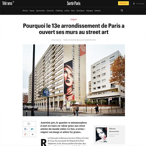 Pourquoi le 13e arrondissement de Paris a ouvert ses murs au street art