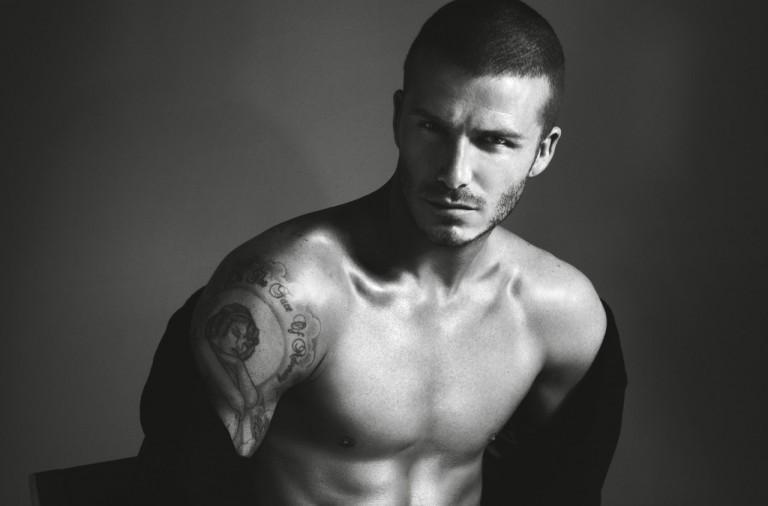 Tattoo on the shoulder of David Beckham - the inscription