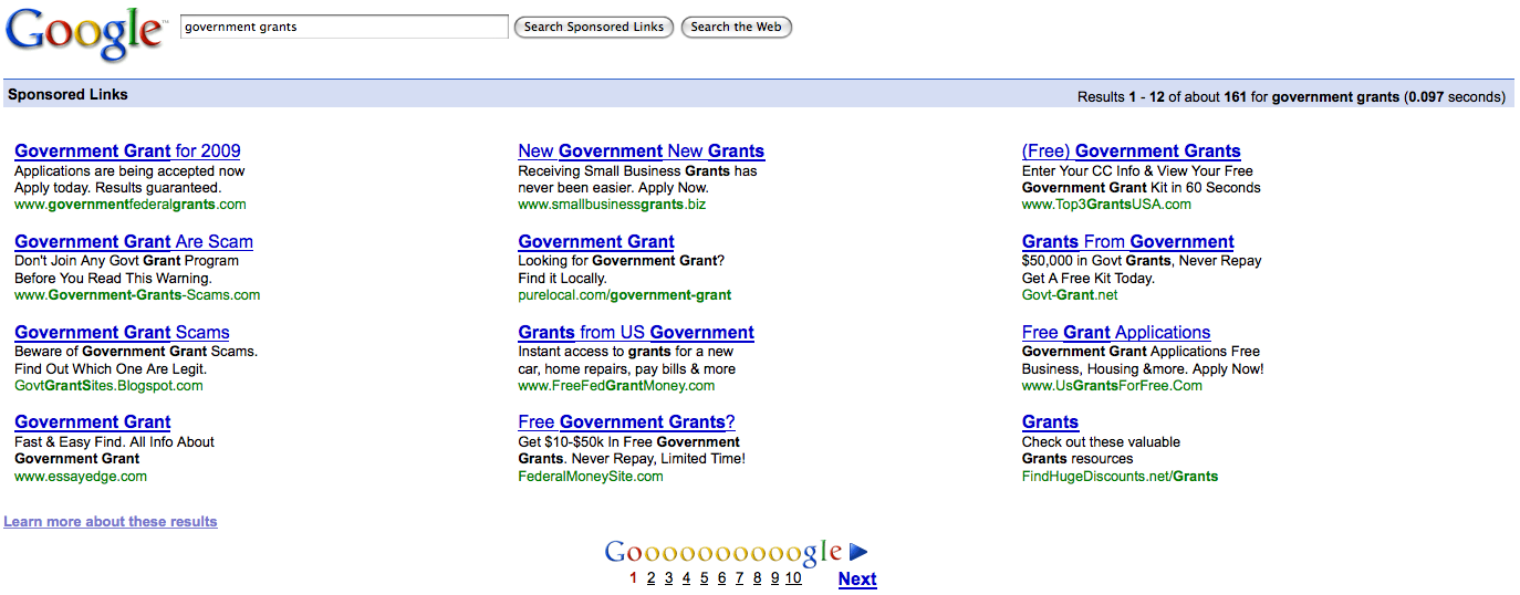 Google Ads for Government Grants