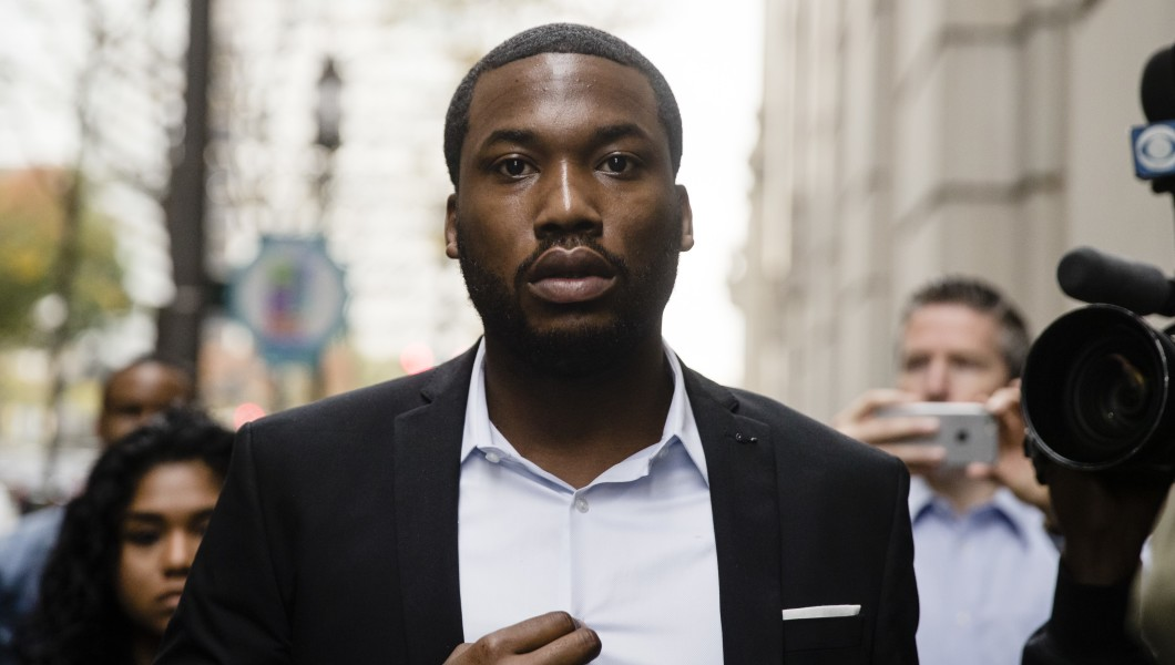 In this 2017 photo, rapper Meek Mill arrives at the criminal justice center in Philadelphia.
