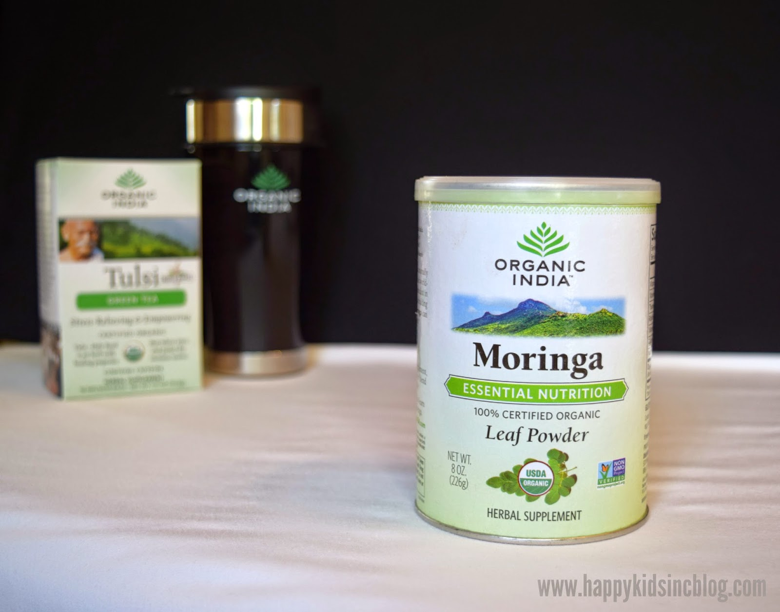 Organic India Moringa Teas and Leaf Powder