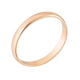 14K / 18K1克整数简单环戒指