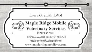 Maple Ridge Mobile Veterinary Services, PLLC (Laura Smith, DVM), a Goldsboro, North Carolina horse vet.