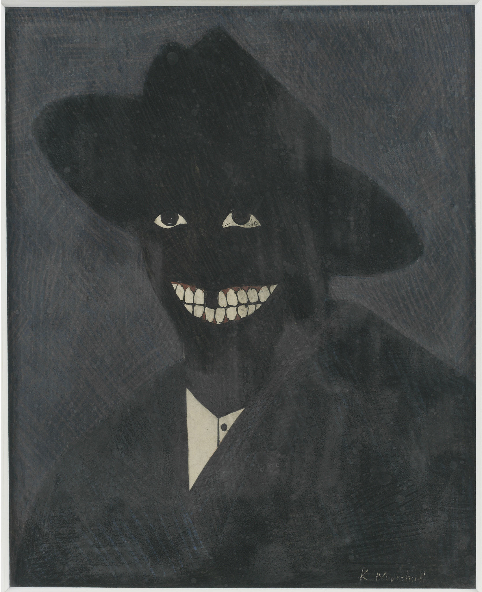 """Kerry James Marshall's """"Portrait of the Artist as a Shadow of His Former Self"""""""