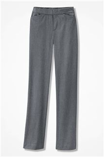 Coldwater Creek The Stretch Flannel Gallery Pant - 223 - 808 Light Heather Grey 8T