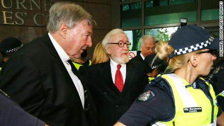 MELBOURNE, AUSTRALIA - MAY 01:  Cardinal George Pell (L) arrives with his defending lawyer Robert Richter QC at Melbourne Magistrates' Court on May 1, 2018 in Melbourne, Australia. Cardinal Pell was charged on summons by Victoria Police on 29 June 2017 over multiple allegations of sexual assault. Cardinal Pell is Australia's highest ranking Catholic and the third most senior Catholic at the Vatican, where he was responsible for the church's finances. Cardinal Pell has leave from his Vatican position while he defends the charges.  (Photo by Michael Dodge/Getty Images)