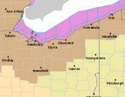 Wind advisory in effect for northern Ohio today for gusts up to 50 mph