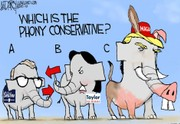 Phony conservative in Ohio governor's race: Darcy cartoon