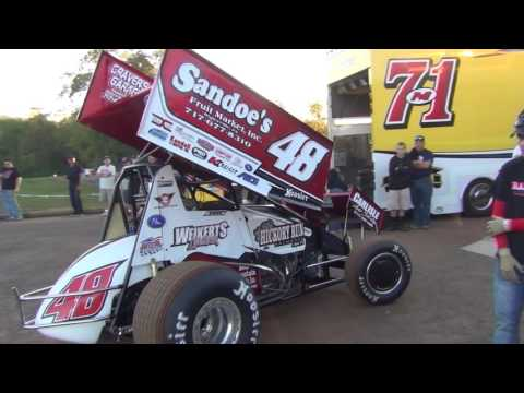 Lincoln Speedway 410 Sprint Car Highlights 09-24-16