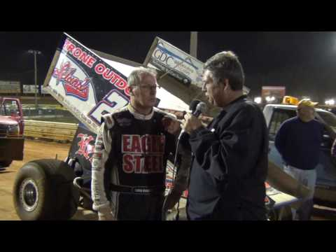 Lincoln Speedway 410 Sprint Car Top 3 and Hard Charger Interviews 9-24-16