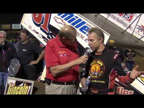 Lincoln Speedway 410 Sprint Car Victory Lane 9-24-16