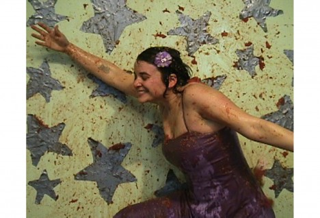 Kate Gilmore, With Open Arms, 2005, video with sound, 5:39 minutes. Courtesy of the artist and David Castillo Gallery, Miami.