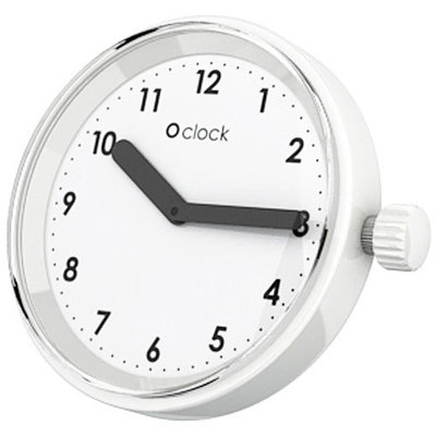 O clock klokje Numbers white
