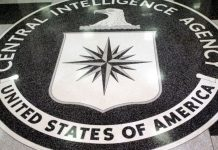 The logo of the CIA