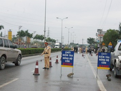 Police in Vietnam conduct RBTs with the AlcoSense Prodigy