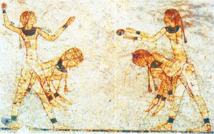 Egyptian girls playing