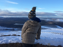 The back of a person outdoors in the Cairngorms