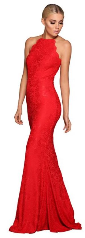 Elle Zeitoune Lori Red Gown