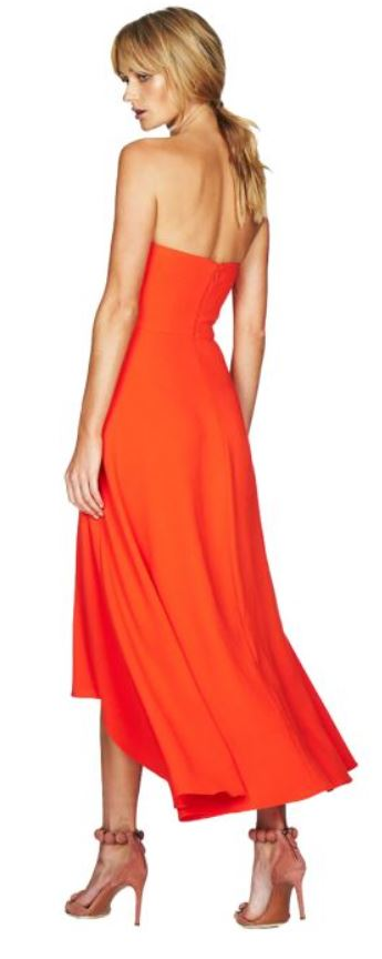talulah strapless midi dress