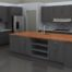 Home Furnitures Sets:Grey Kitchen Cabinet Is a Perfect Kitchen Cabinet Style for Your Perfect Kitchen Look Dark Grey Kitchen Cabinets