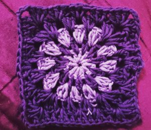 One of Emma's granny squares