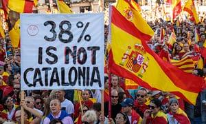 Pro-unity demonstration in Barcelona