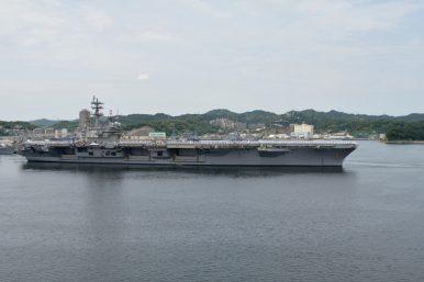 US Navy Carrier Strike Group Departs for Patrol in Western Pacific Ocean