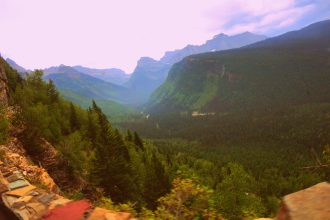Driving-the-Going-To-The-Sun-Road, Glacier National Park, Montana